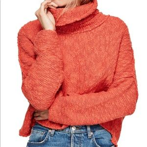Free People Big Easy Cowl Neck Crop Sweater